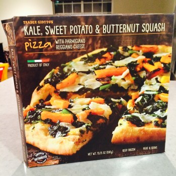 Trader Joe's Trick #5: Kale, Sweet Potato & Butternut Squash Pizza + Mixed-Berry Spinach Salad