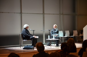 Alan Cheuse and Joyce Carol Oates discussed fiction-writing at the Moment Magazine-Karma Foundation Short Fiction Contest awards ceremony, at the Jewish Museum of New York on November 14th.