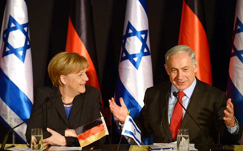 German Chancellor Angela Merkel with Israeli Prime Minister Benjamin Netanyahu in Jerusalem this year.
