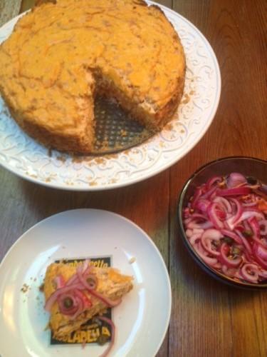 Lox-bagel-turned cheesecake