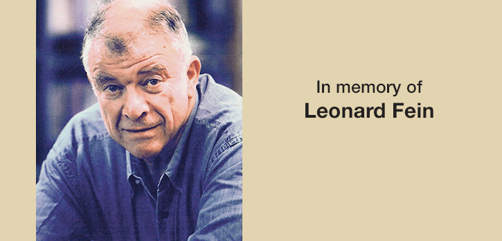 In Memory of Leonard Fein