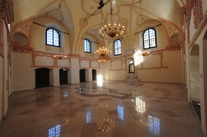 Interior of Zamosc Renaissance Synagogue in Poland. (Courtesy of World Monuments Fund)