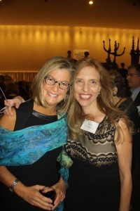 Amy Kaslow, winner of the 2014 Moment Magazine International Changemaker Award with Nadine Epstein
