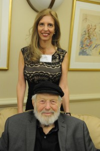 Nadine Epstein and Theodore Bikel on November 16, 2014