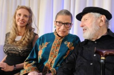 Nadine Epstein, Justice Ruth Bader Ginsburg, and Theo Bikel on November 14, 2014