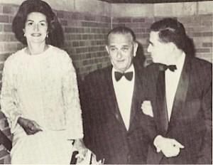 President Lyndon B. Johnson and Morris. Courtesy of the Abram estate.