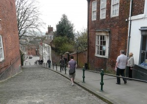 Steep Hill, the old Jewish quarter of Lincoln, today