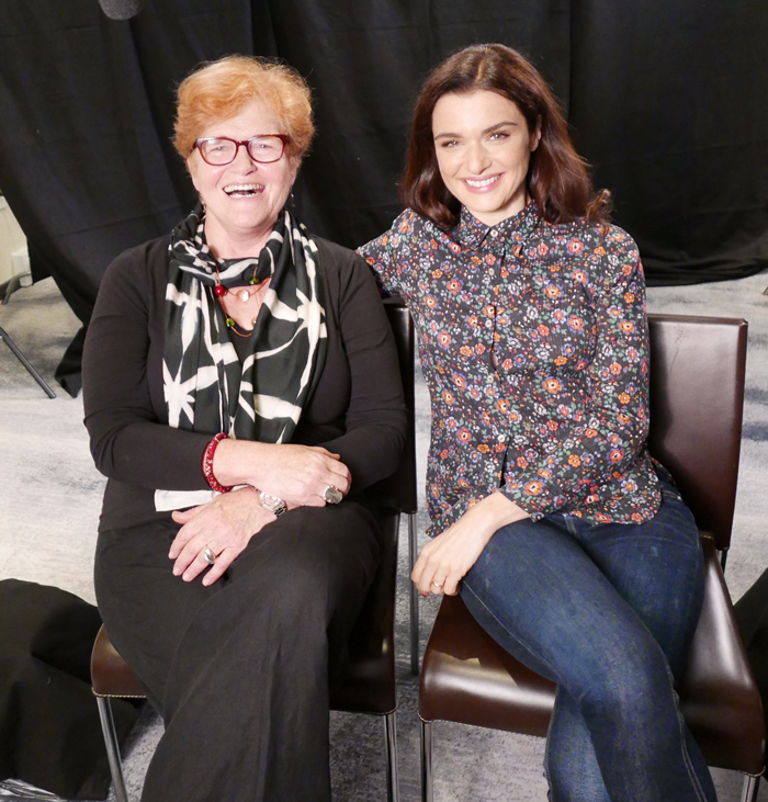 Deborah Lipstadt with actor Rachel Weisz, who plays her in Denial. Courtesy of Deborah Lipstadt