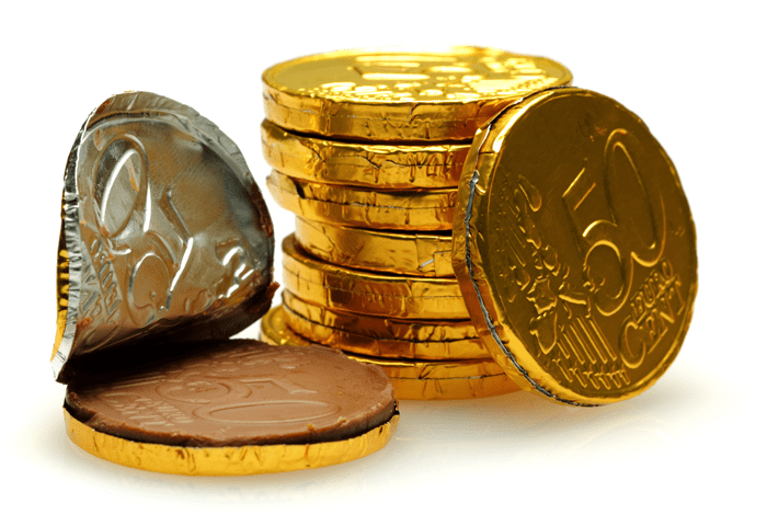 chocolate gelt coins
