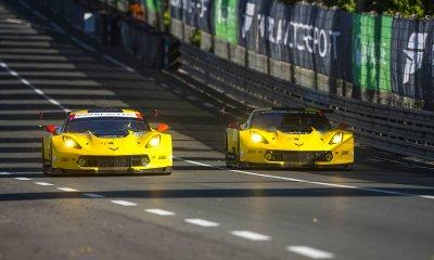 Los dos Corvette en las 24 Horas de Le Mans