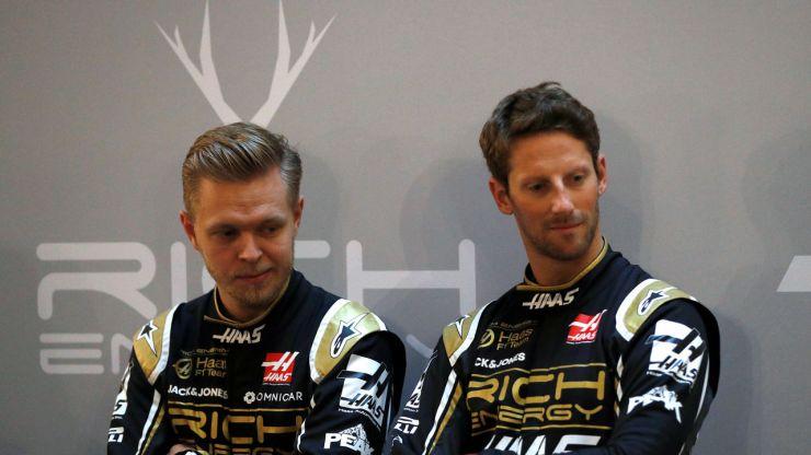 Romain Gorsjean y Kevin Magunussen con el Haas 2019