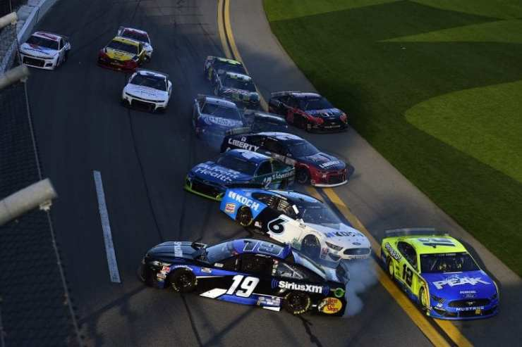 Accidente en el Busch Clash at Daytona