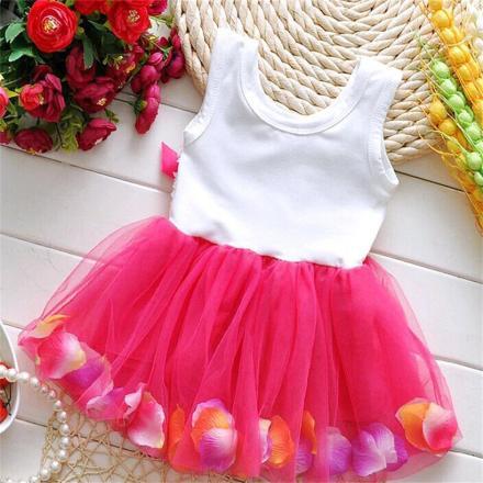 Pink & White Summer Dress for Baby Girls