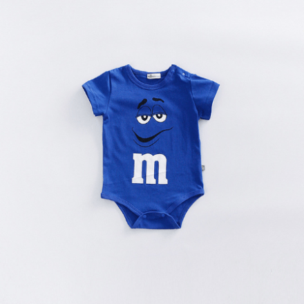 M&M Rompers Short-Sleeve Blue