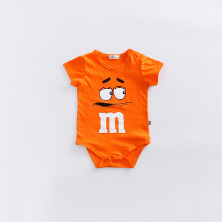 M&M Rompers Short-Sleeve Orange