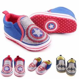 Baby Bling Superhero Shoes with Crystals