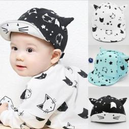 Baby Cool Cat Summer Hat with Cat Ears