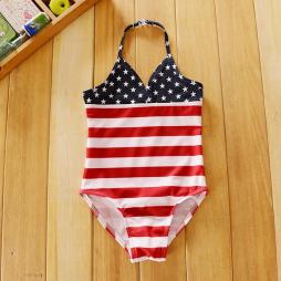 Baby Girl American Flag Swimsuit
