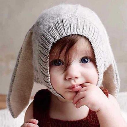 Baby Long Ear Rabbit Hat