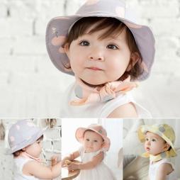 Baby Polka Dot Sun Hat