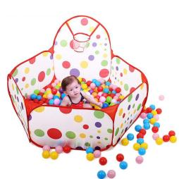 Ball Pit Play Tent with Basketball Hoop