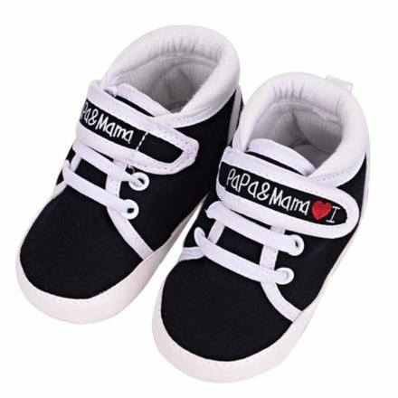 i-love-papa-mama-sneakers black