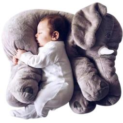 Large Plush Elephant Sleeping Cushion - Cute Baby Pillow