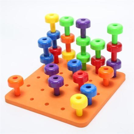 Montessori Peg Board Set