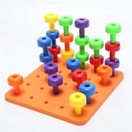 Montessori Peg Board Set