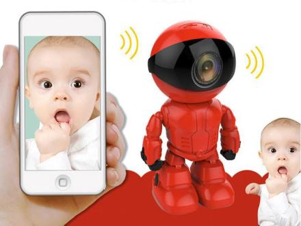Red Robot Baby Monitor