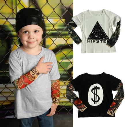 Tattoo Sleeve Baby Boys Tops