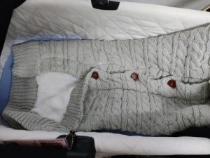 Baby Winter Knit Swaddle Sleeping Bag Review 7