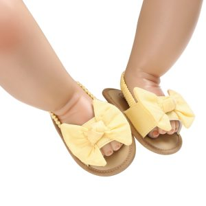 Princess First Walkers Bow Knot Sandals for Baby Girls