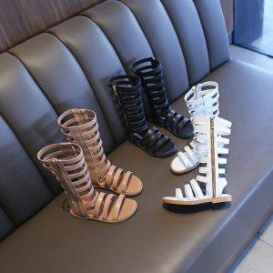 Baby Girl High Top Roman Gladiator Sandals