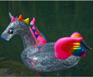 XXL Ride-On Inflatable Unicorn Pool Float
