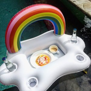 Rainbow Cloud Floating Summer Party Bucket Cup and Bottle Holder