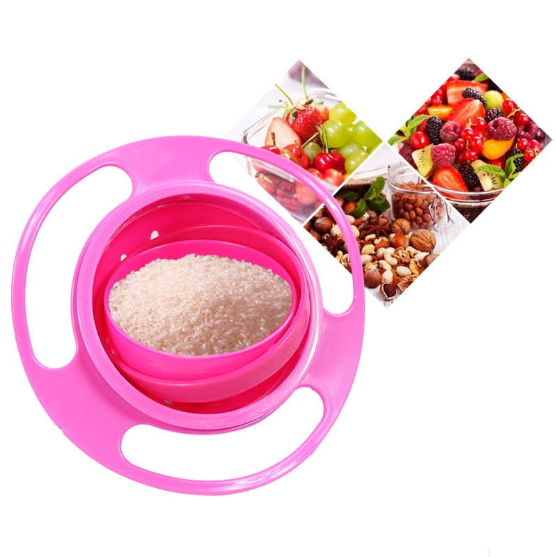 360-Degree Rotating Spill-Proof Baby Food Bowl