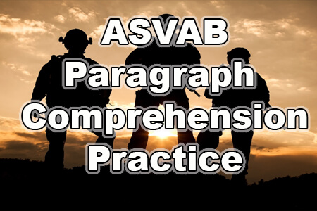 ASVAB Paragraph Comprehension Practice