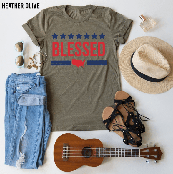 cute Fourth of July tees from American Love Tee