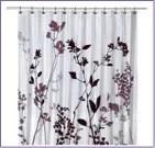 bathroom decor - small bathroom ideas posts (including purple shower curtain)