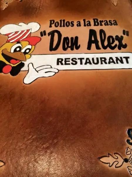 don alex pollos a la brasa menu