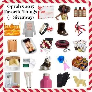 Oprah's Favorite Things 2015 List (Plus a Giveaway!)