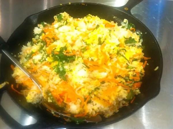 korean bibimbap (seasoned vegetable rice bowls)