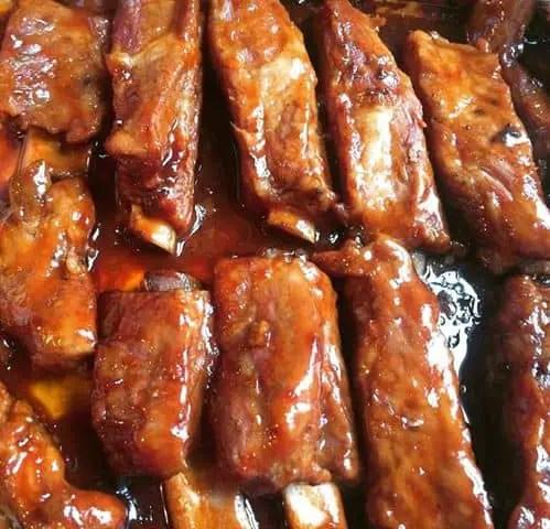 barbecue teriyaki ribs