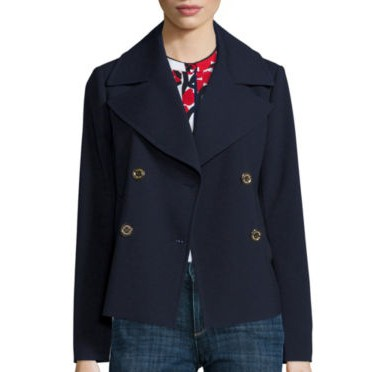 Liz Claiborne Navy Cropped Peacoat - Best Fall Jackets for Women That They Will Love to Wear