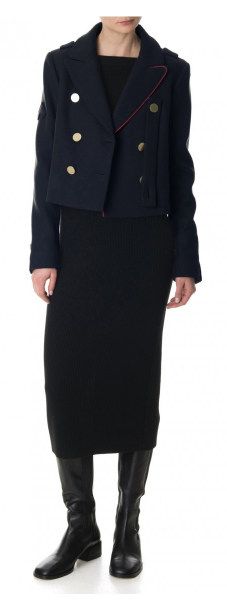 Tibi navy cropped peacoat - Best Fall Jackets for Women That They Will Love to Wear