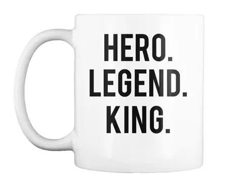 hero legend king mug