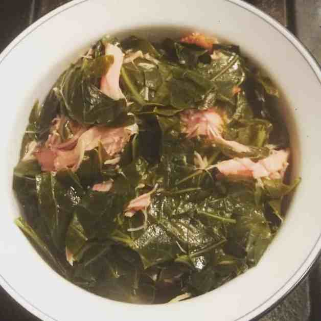 Southern Collard Greens with Smoked Turkey Wings