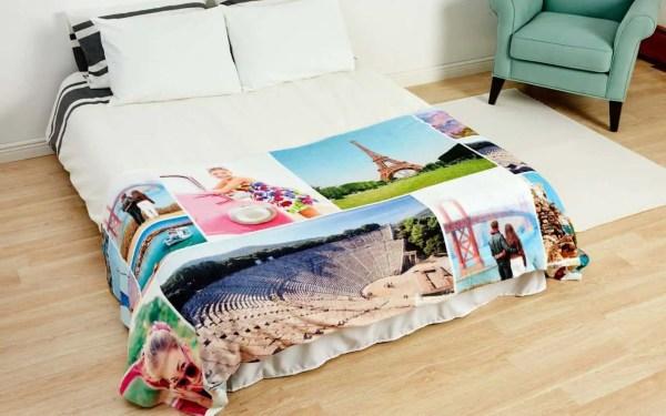 collage photo blanket