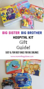 Big Sister/Big Brother Hospital Kit Gift Guide!